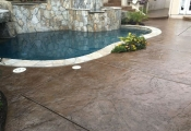 stamped concrete pool deck oc