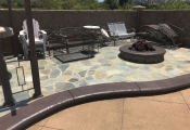 concrete stamping pool deck orange county