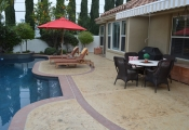 stamped concrete pool deck orange county