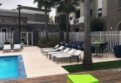commercial stamped concrete pool deck orange county