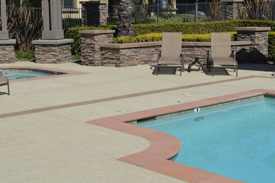 Orange County pool deck refinishing