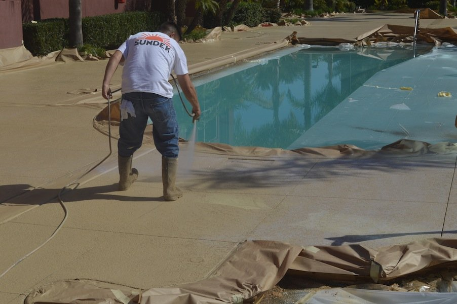 Orange County pool deck remodeling