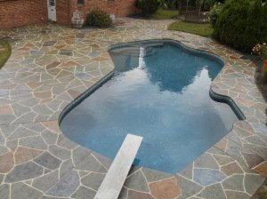 Newhall, CA Concrete Pool Deck