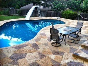 Fountain Valley, CA Stamped Pool Deck
